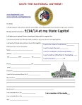 Snapshot of the Signup to go to State House Events