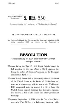 Commemorative Resolution 550