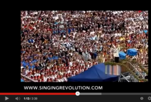 CLICK to See how Singing an anthem created a peaceful revolution: FORTIFICATION AGAINST ALL ENEMIES FORIEGN and DOMESTIC!